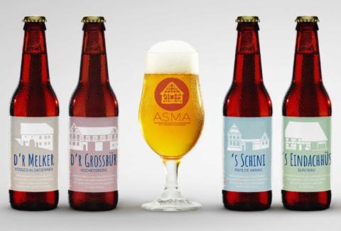 Identité visuelle des bières de l'ASMA