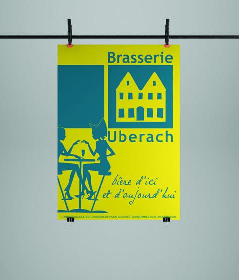 Affiche pour la Brasserie Uberach