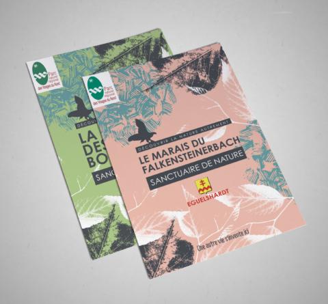Dépliants pour le Parc naturel régional des Vosges du Nord