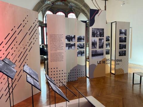 Habillage d'une exposition pour le Musée de Haguenau