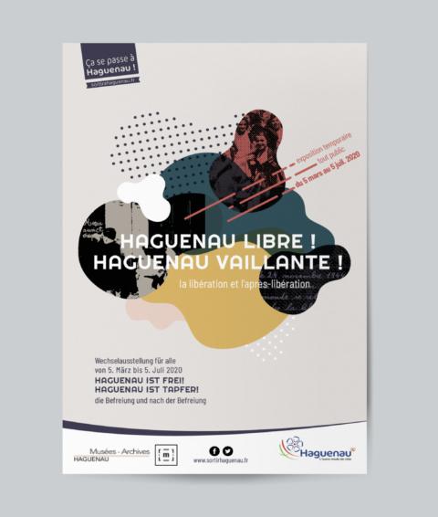 Identité visuelle d'une exposition pour le Musée de Haguenau